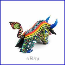 Bull Oaxacan Alebrije Wood Carving Mexican Folk Art Sculpture