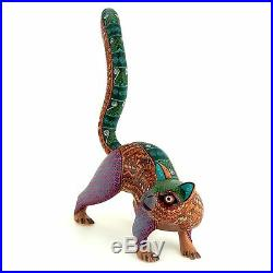 CAT Oaxacan Alebrije Handcrafted Wood Carving Mexican Folk Art Sculpture
