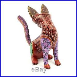 CAT Oaxacan Alebrije Wood Carving Mexican Folk Art Animal Sculpture Painting