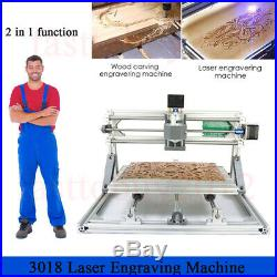 CNC Laser Engraving Machine Router Carving PCB Wood Milling Cutting 3018 Set
