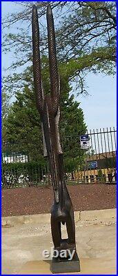 Carving Wood Chiwara Statue Bambara Mali Chiara Antelope Africa tribal Bamana