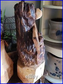 Chainsaw Carving, BEAR, carved, chainsaw carved, statue, art, wood sculptures