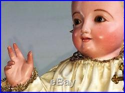 Child Jesus. Sculpture Cap-i-pota. Carved Wood. Original Polychrome. Spain. Xixth