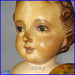 Child Jesús. Sculpture Cap-i-pota. Wood Carved And Polychrome. Spain XIX