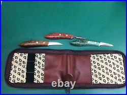 Collectible Wood Carving Detail & Chip Carving Knife Set Stamped KGH With Case