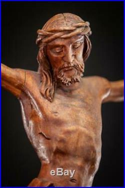 Corpus Christi Wood Sculpture Christ Wooden Statue Antique Carved Jesus 17