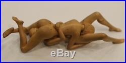 Couple in love Wood Carving Art Sculpture hand carved