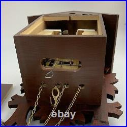 Cuckoo clock black forest 8 day original german wood carving mechanical Excellen