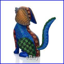 DOG Oaxacan Alebrije Wood Carving Mexican Folk Art Animal Sculpture Painting