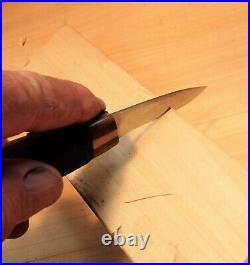 Davis Bros. Custom Collectible Hand Made Nostalgia #67 Wood Carving Detail Knife