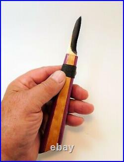 Davis Bros. Custom Collectible Hand Made Nostalgia #71 Wood Carving Detail Knife