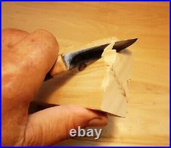 Davis Bros. Custom Collectible Hand Made Nostalgia #72 Wood Carving Detail Knife