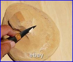 Davis Bros. Custom Collectible Hand Made Nostalgia #76 Wood Carving Detail Knife