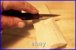 Davis Bros. Custom Collectible Hand Made Nostalgia #77 Wood Carving Detail Knife