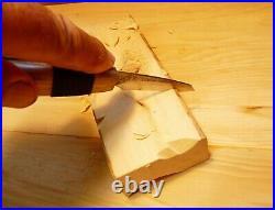 Davis Bros. Custom Collectible Hand Made Nostalgia #78 Wood Carving Detail Knife
