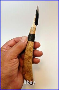 Davis Bros. Custom Collectible Hand Made Nostalgia #82 Wood Carving Detail Knife