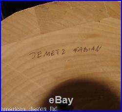 Demetz Fablian Original Wood Carving of Mother & Child, Signed Italian Sculpture