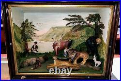 Diorama by Richard C. Orcutt Folk Artist Based on Edward Hicks Peaceable Kingdom