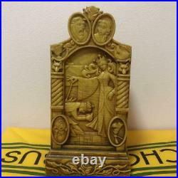 Disney showcase Beauty and the Beast Wood carving style accessory case