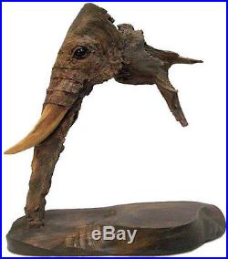 Elder Brother Original Elephant Wood Sculpture Carving Direct from Rick Cain