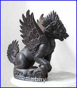 FANTASTIC massive Garuda carving, very old piece from Bali, Indonesia