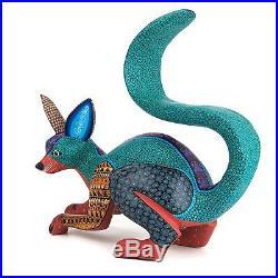 FINE FOX Oaxacan Alebrije Wood Carving Mexican Folk Art Sculpture Painting
