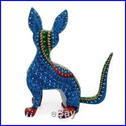 FOX Oaxacan Alebrije Wood Carving Mexican Folk Art Animal Sculpture Painting
