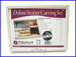 Flexcut FLEXSK108 21 Piece SK108 Deluxe Starter Wood Carving Knife Tool Set