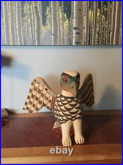 Flying Eagle Wood Carving Pacific Northwest Native American Tribal Art Replica