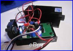 Focusable high power 3500mW 450nm blue laser module TTL 12V input Wood carving