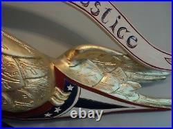 Folk Art Traditional Bellamy Style Eagle Wood Carving American