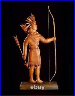 Folk Art sculpture of Indian Weathervane by K. William Kautz