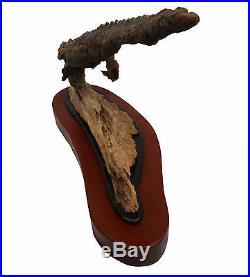 Gator Vision Original Fine Art Wood Carving Florida Reptile Sculpture Rick Cain