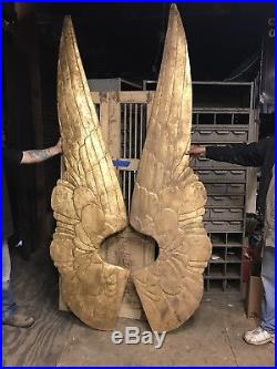 Giant Set Angel Wings Carved Wood Angel Wings Home Decor
