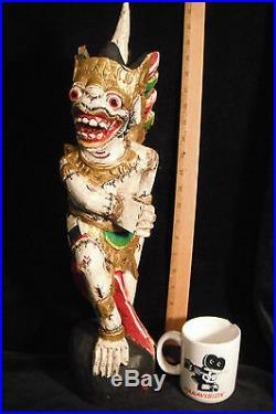 Guardian Keris Holder Hanuman Traditional Balinese Wood Carving 21- 53 cm Tall