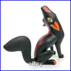 HOWLING WOLF Oaxacan Alebrije Wood Carving Mexican Folk Art Sculpture Painting