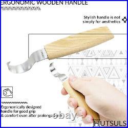HUTSULS Wood Carving Sloyd Hook Knives Whittling Spoon Kuksa Beginner Tools Gift