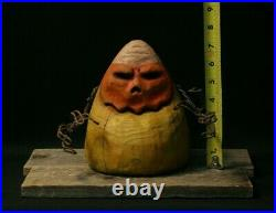 Halloween, Candy Corn, Autumn Decor, Chainsaw Carving, Wood Art, SHRUM