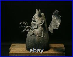 Halloween Gargoyle Wood Carving, Chainsaw Carving, Wood Art, Folk Art, SHRUM