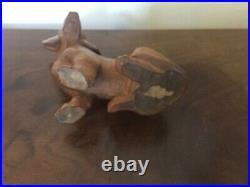 Hand Carved Wood Dachshund Figurine Wooden Dog Sculpture