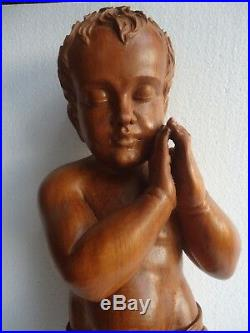 Hand Carved wood Christ Child, Baby JESUS sculpture statue Religious 23'' TALL