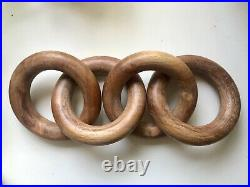 Hand carved Wood Chain Link Decor Object Sculpture Large