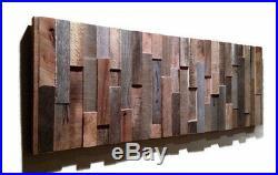 Handmade Barn Wood Wall Art, Modern Abstract Artwork, Unique Art, Rustic Decor
