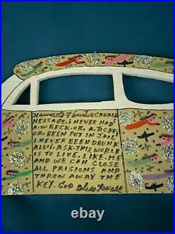 Howard Finster Art Wood Cadalac Message 8/26/93 Good Cond