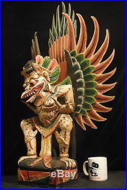 Huge 34 (86.4 cm) Traditional Balinese Wood Carving Garuda