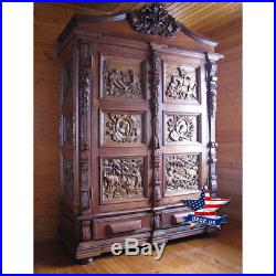 Hunter Closet Carved wood furniture artwork sculpture picture icon decor 3d