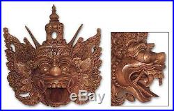 Indonesian Wood Mask'Epic Monkey King' Wall Sculpture Hand Carved NOVICA Bali