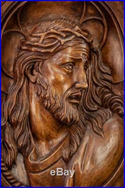 Jesus Christ Wood Carving Ecce Homo Sculpture Man of Sorrows Figure 17