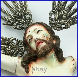 Jesus Christ Wooden carved Statue Corpus Christi Sculpture Figure