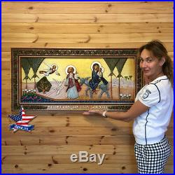 Jesus in Egypt Wood Carved Icon painting picture art sculpture